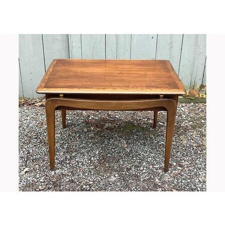 Vintage Lane ca. 1960 Side Table w/ Basket Weave Drawer
