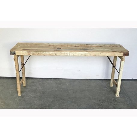 Vintage Wood Wedding Console in Bleached Wood