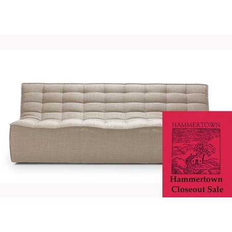 "Ethan 83"" Armless Sofa in Beige"