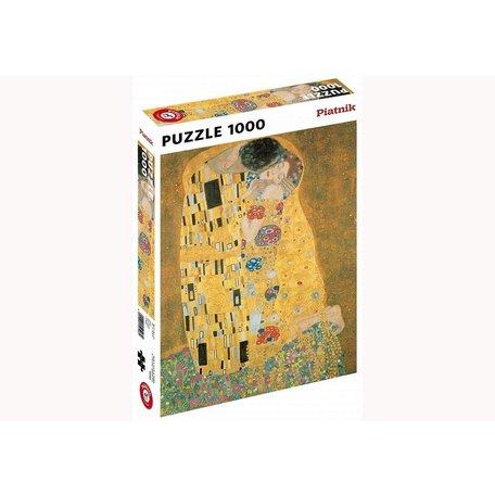 Klimt- The Kiss 1000 Piece Metallic Puzzle