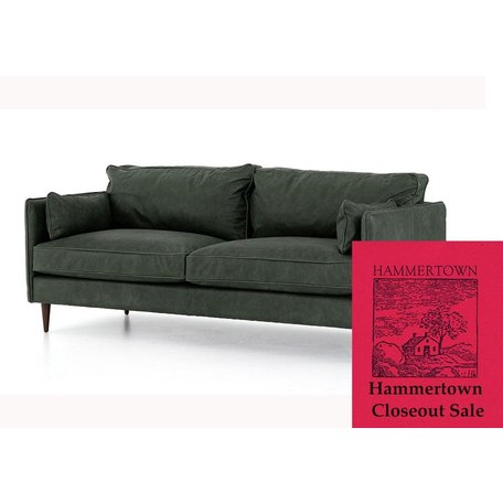 """Harry 76"""" Leather Sofa in Sage"""