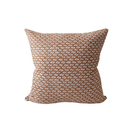 Kumo Rust Linen Pillow 20x20 w/ Filler