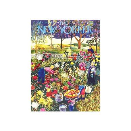 New Yorker Flower Garden 1000 Piece Puzzle