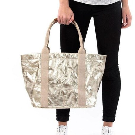 Giulia Small Metallic Bag in Platino