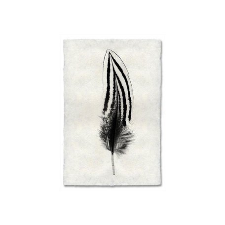 Handmade Paper Print Feather #2