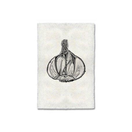 Handmade Paper Print Garlic