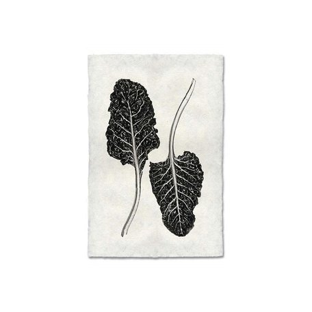 Handmade Paper Print Swiss Chard
