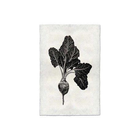 Handmade Paper Print Red Beet