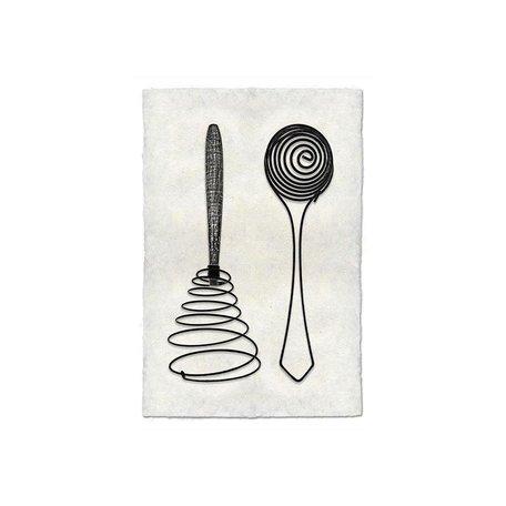 Handmade Paper Print Whisk/Separator