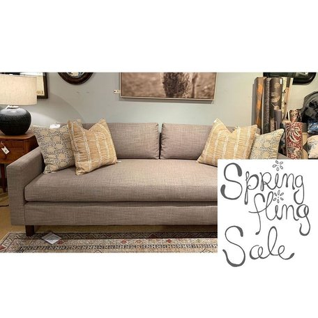"Hunter 90"" Sofa in Fulmer Earth w/ Bench Seat and No Welt by MGBW"