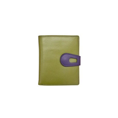 French Purse Wallet Moss Green/Purple