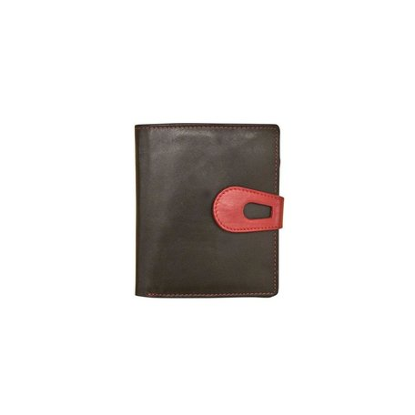 French Purse Wallet Black/Red