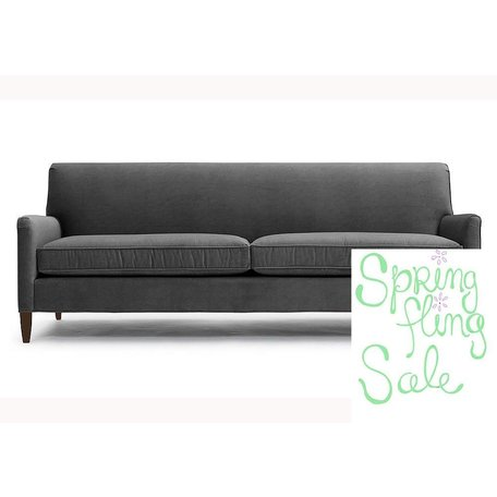 "Sloane 84"" Sofa in Vivid Charcoal by MGBW"