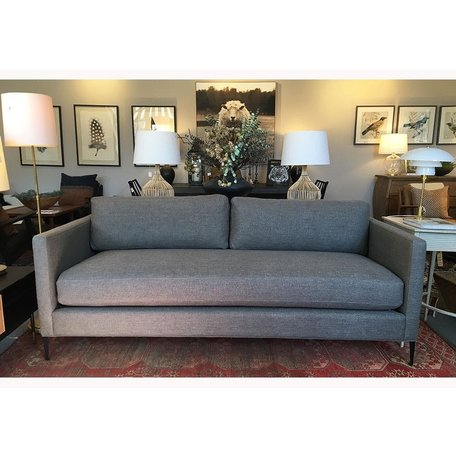 "Benedict 84"" Sofa in Bellamy Pewter w/ Black Metal Legs by Cisco Brothers"