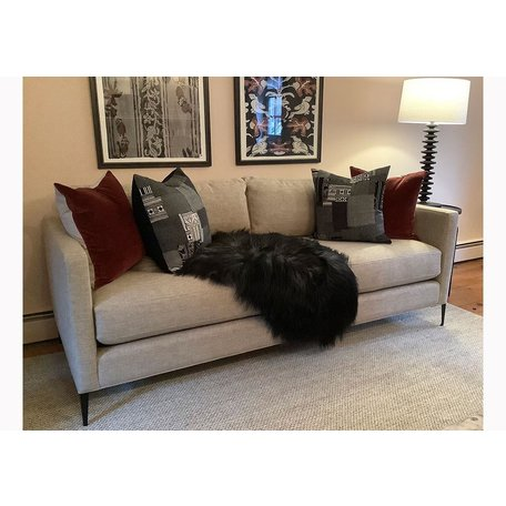 "Benedict 84"" Sofa in Bellamy Oatmeal w/ Metal Legs by Cisco Brothers"