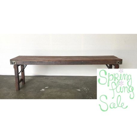 Vintage Wood Wedding Table Bench