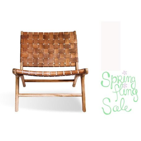 Iris Teak Chair Brown Leather