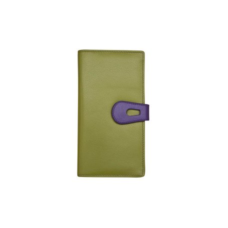 Clutch Wallet Moss Green and Purple