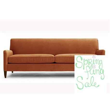 "Sloane 84"" Tailored Sofa In Vivid Terracotta"
