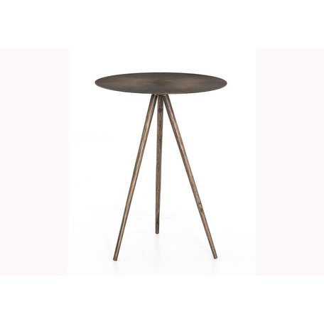 Sunny End Table in Aged Brass