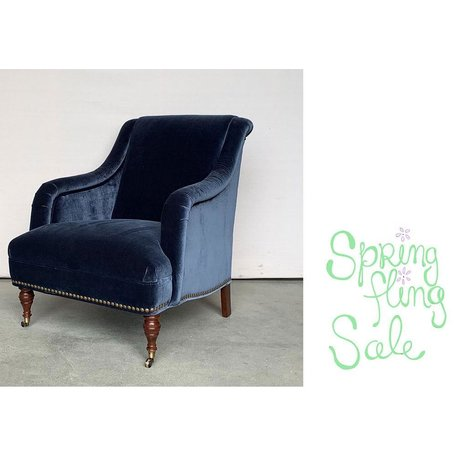 Odette Chair in Linley Blue by MGBW