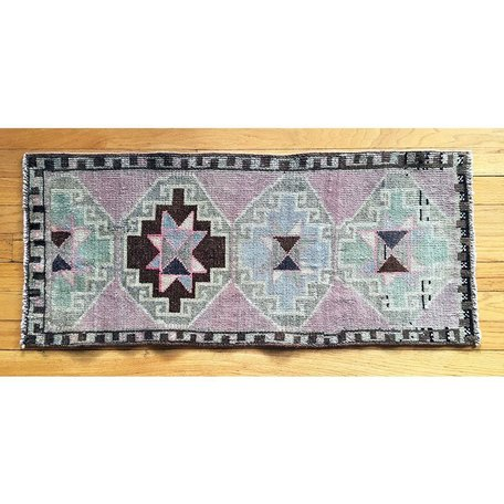 Vintage Oushak Design Prayer Rug A