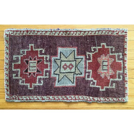 Vintage Oushak Design Prayer Rug B