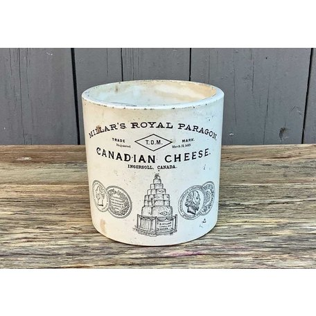 Vintage Canadian Stoneware Cheese Crock