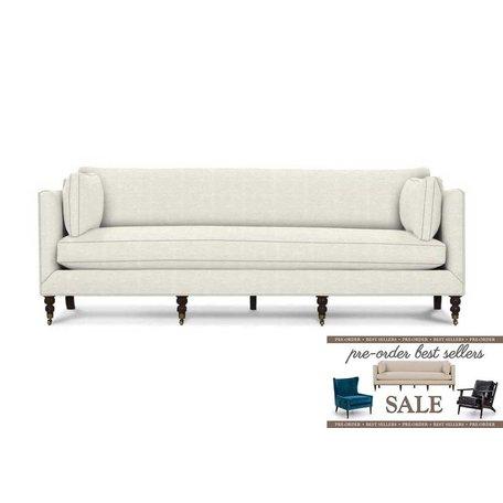 "Monique 90"" Sofa in Inside Out White w/ Down Blend Cushions Pre-Order Sale"
