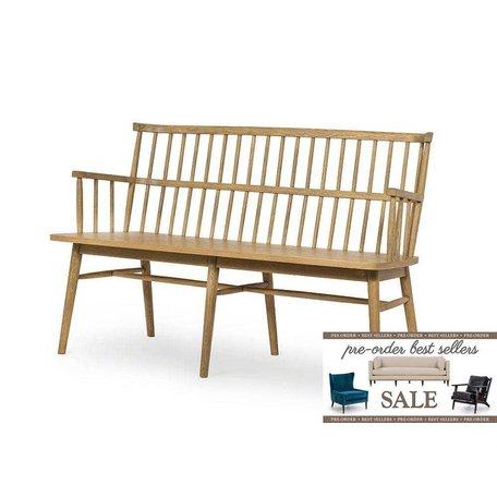 Heike Bench in Sandy Oak Pre-Order Sale