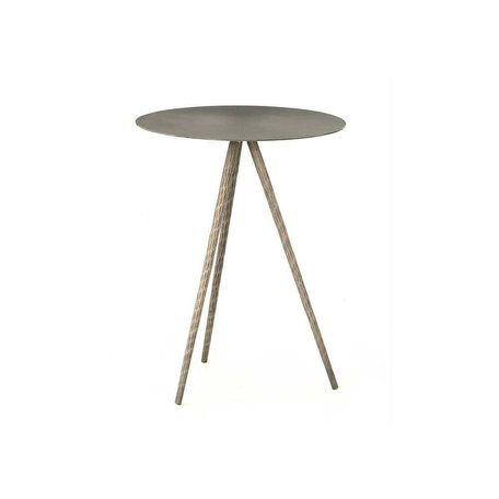 Sunny End Table in Aged Nickel