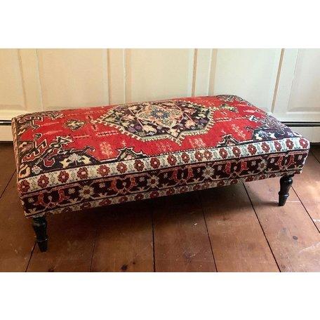 VIntage Rug Ottoman 0520-D
