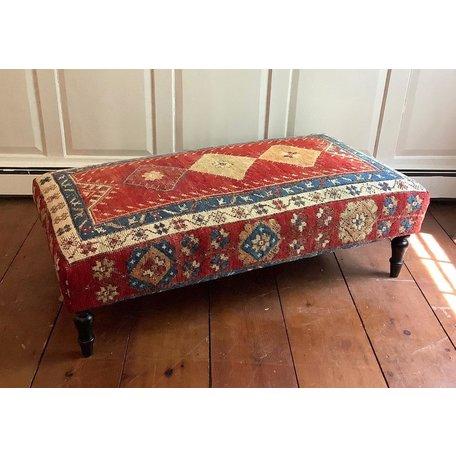 VIntage Rug Ottoman 0520-G