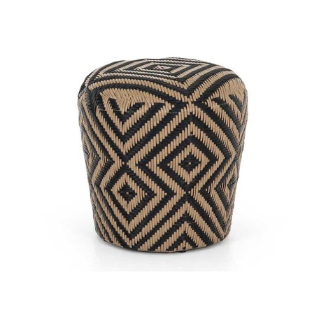 Zach Woven Indoor/ Outdoor Stool In Natural
