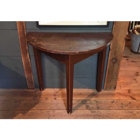 Vintage 19th Century Demilune Table