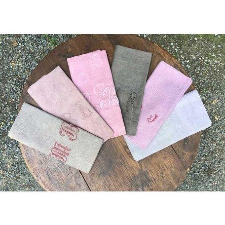 Vintage French Dyed Napkin-B Set of 6