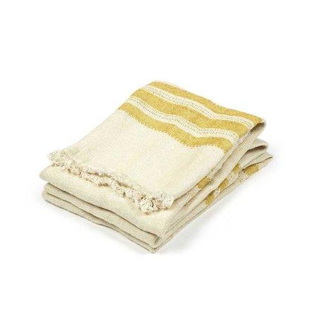 The Belgian Guest Towel in Mustard Stripe