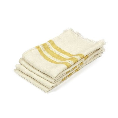 The Belgian Guest Towel in Mustard Stripe, Small