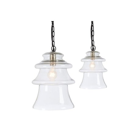 Tiered Pendant Small, Clear Glass