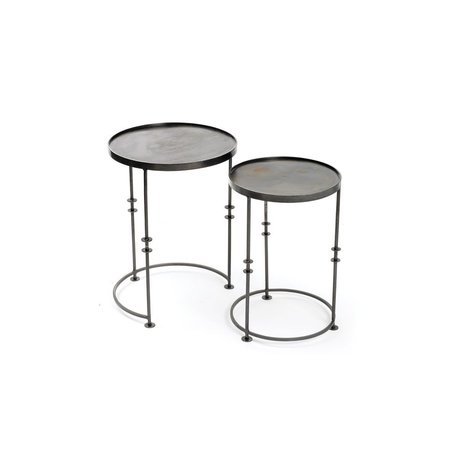 Iron Disc Tables- Set of 2