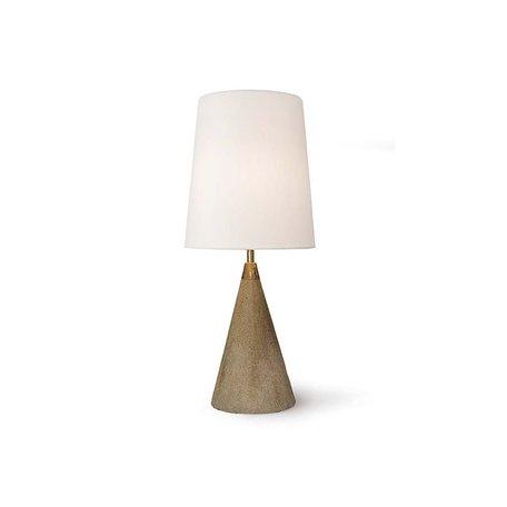 Concrete Brass Mini Cone Lamp