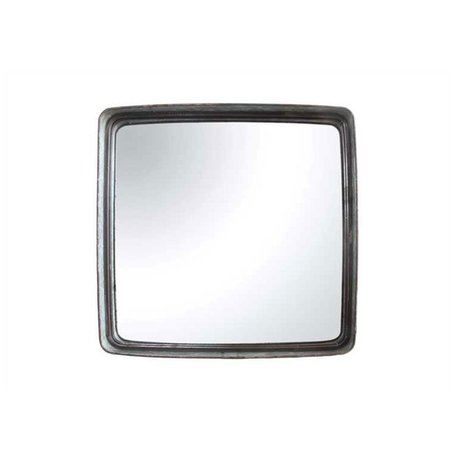 """Square Iron Framed Mirror 23-1/2"""""""