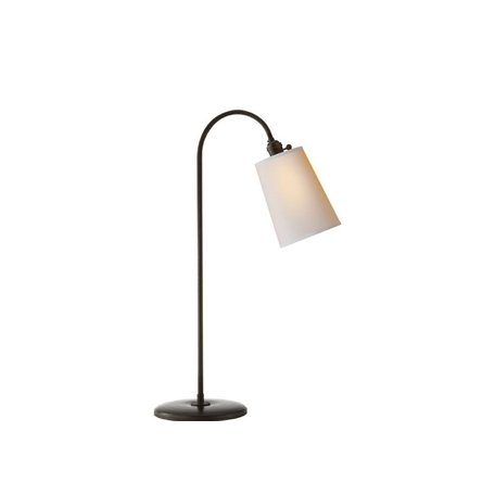 Mia Table Lamp in Aged Iron w/ Natural Paper Shade