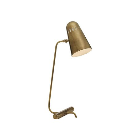 Paix Table Lamp in Antique Brass