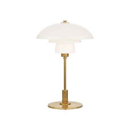 Whitman Desk Lamp in Antique Brass