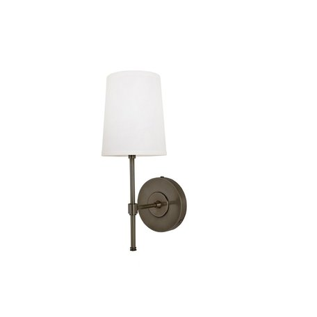 Annapolis Wall Sconce w/ Linen Shade in Bronze