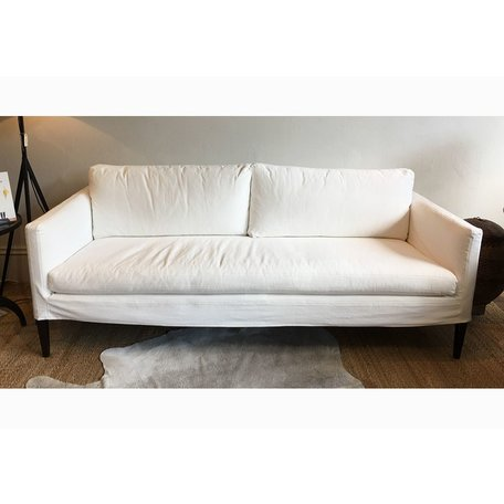 Laura Slipcovered Sofa C7098-03 in Boomer White by Lee Industries
