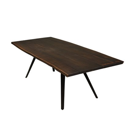 """Nelson 94.5"""" Dining Table in Seared Black"""