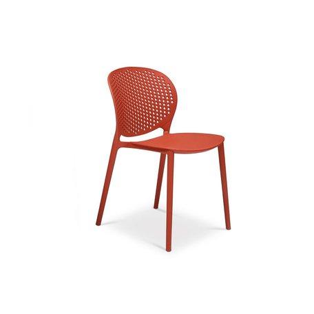 Bailey Polypropylene Side Chair in Dark Orange