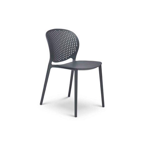 Bailey Polypropylene Side Chair in Black/Grey
